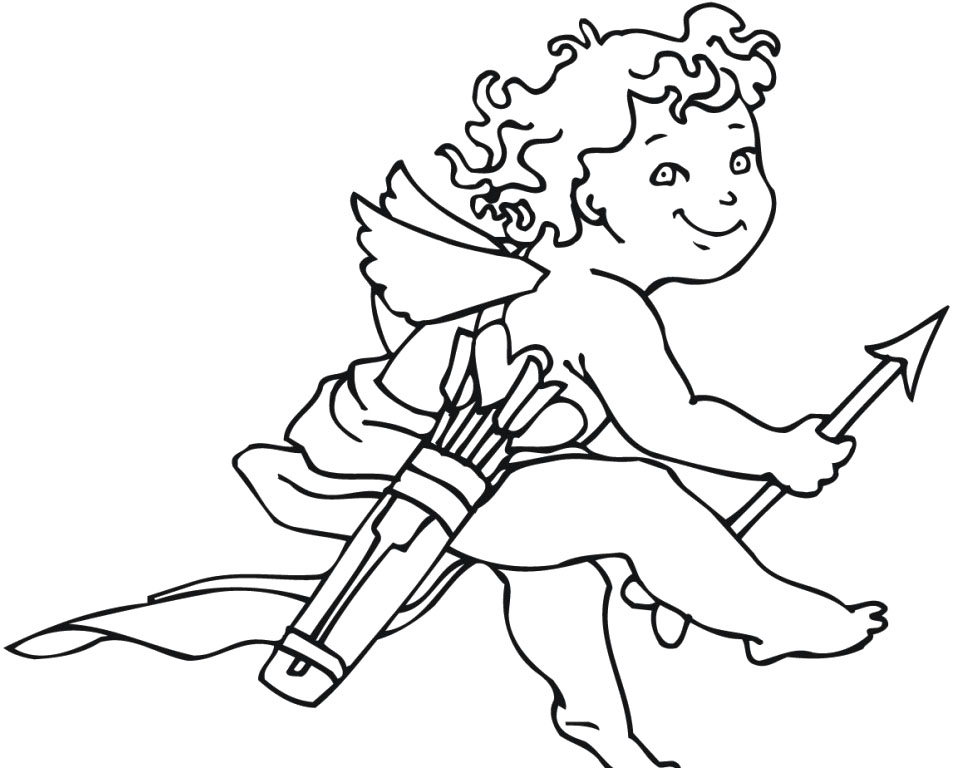 coloring pages cupid - photo#24