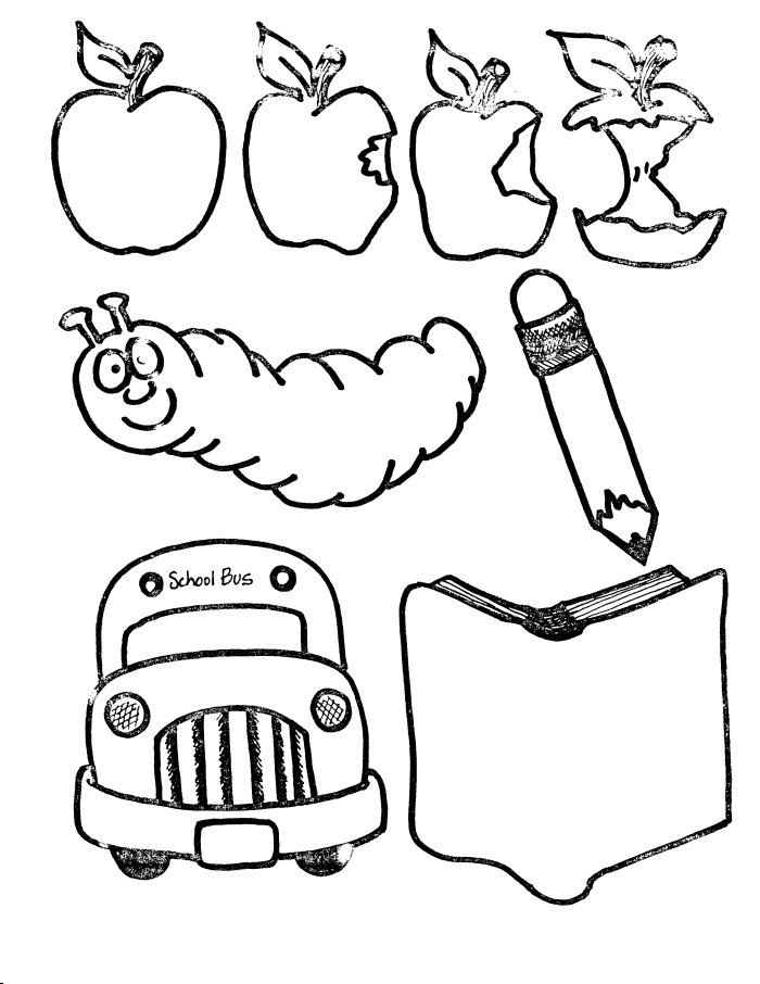coloring pages school items - photo#6