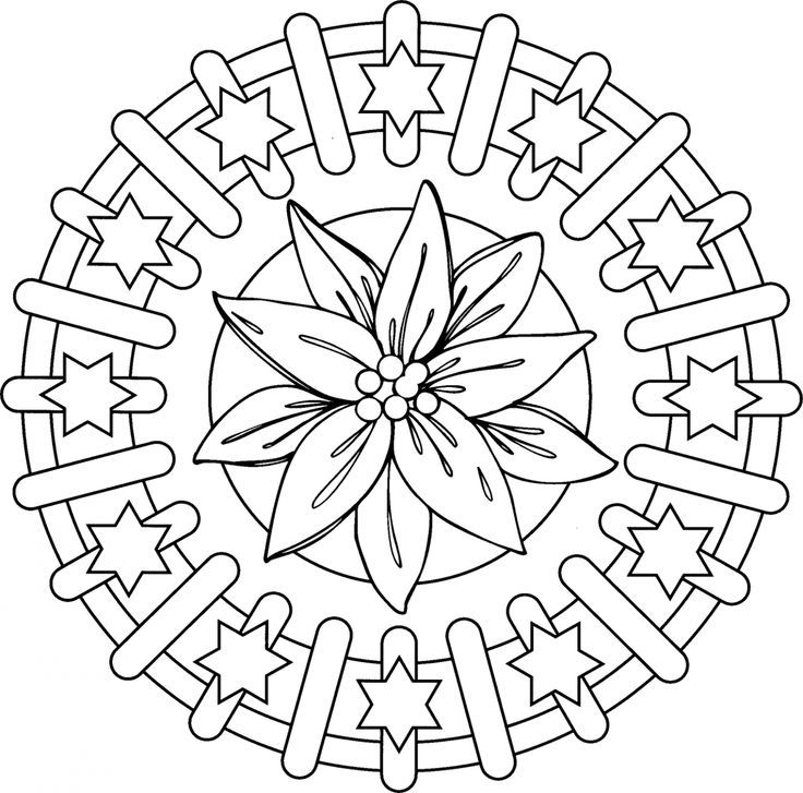 advanced mandala coloring pages printable - photo#33