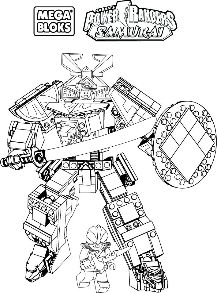 mega bloks power rangers coloring pages | Coloring Pages For Kids