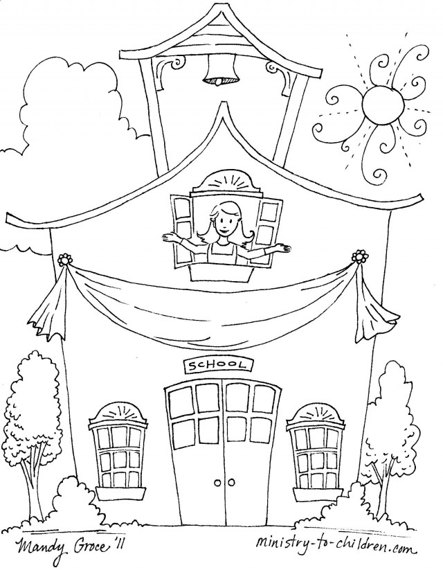 preschool 1st day coloring pages - photo#29