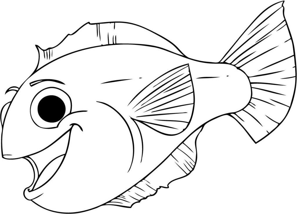 Rainbow Fish Coloring Pages For