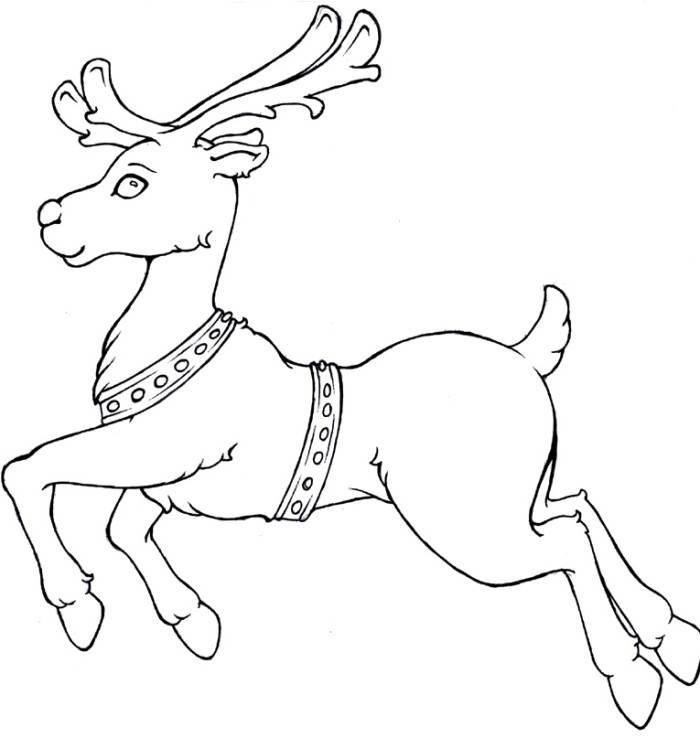 Christmas Rudolph Drawing Rudolph Run Christmas Coloring