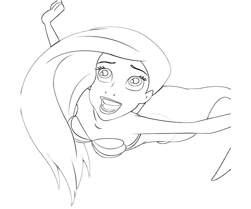 Ariel Human Coloring Pages Images Princess Ariel Human Coloring Pages Free Coloring Sheets