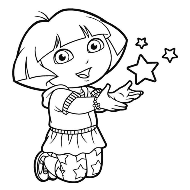 Coloriage De Dora Jpg Dans Coloring Dora The Explorer