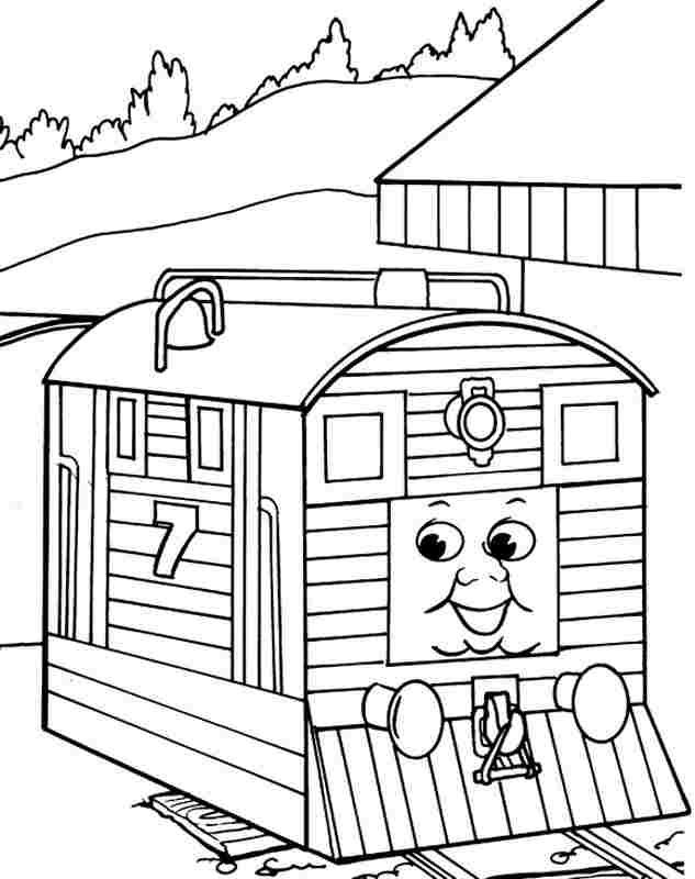 Free Printable Cartoon Thomas The Train And Friends Coloring