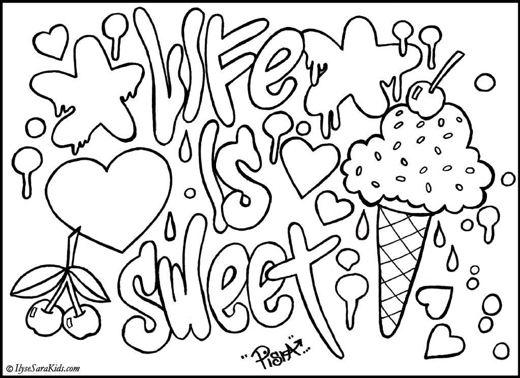 Cool Coloring Pages For Teenagers | Coloring Pages