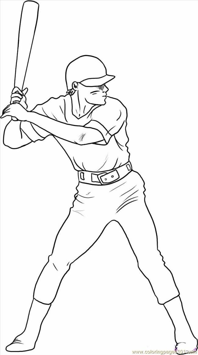 Baseball Player Coloring Pages 138 | Free Printable Coloring Pages