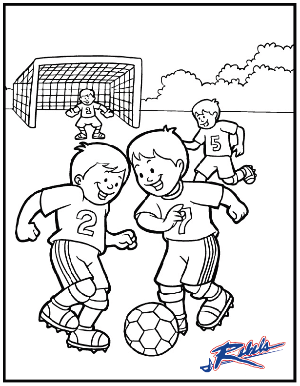 soccer player coloring pages - photo#13
