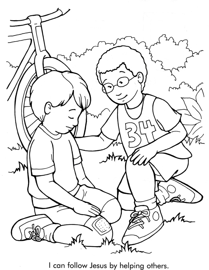 follow jesus coloring pages - photo#5