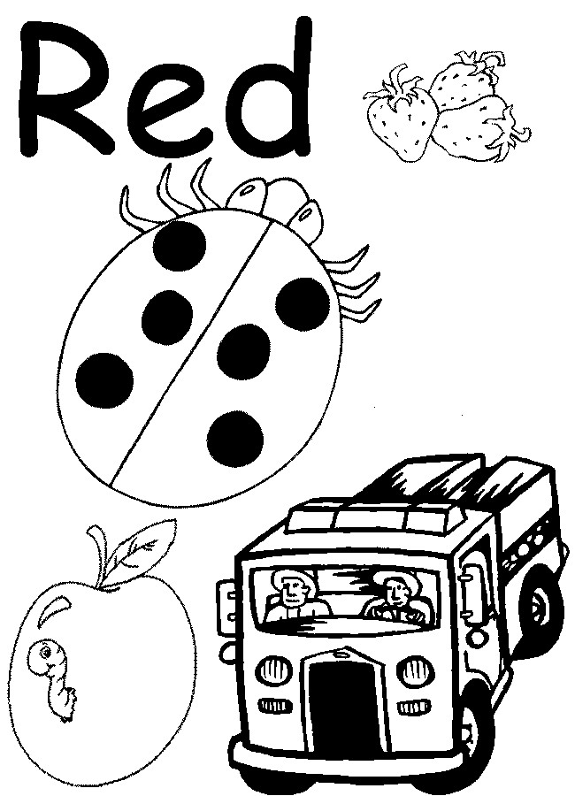 Printables Preschool Worksheets For The Color Red recognition colors worksheets for preschoolers redcabworcester color kindergarten az coloring pages