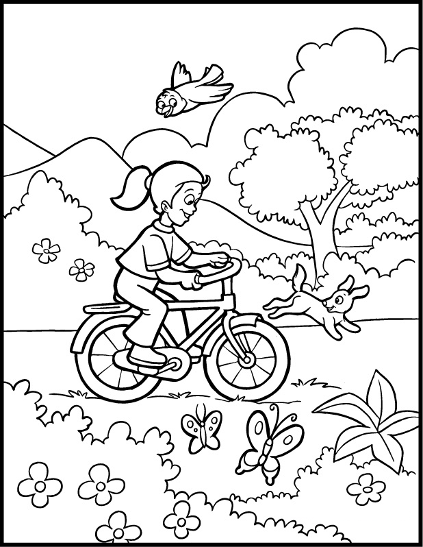 Spring Coloring Pages Free Printable Download | Coloring Pages Hub