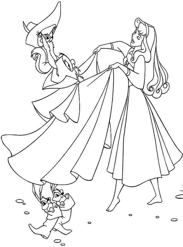 Sleeping beauty coloring pages for kids az coloring pages for Sleeping beauty coloring pages to print