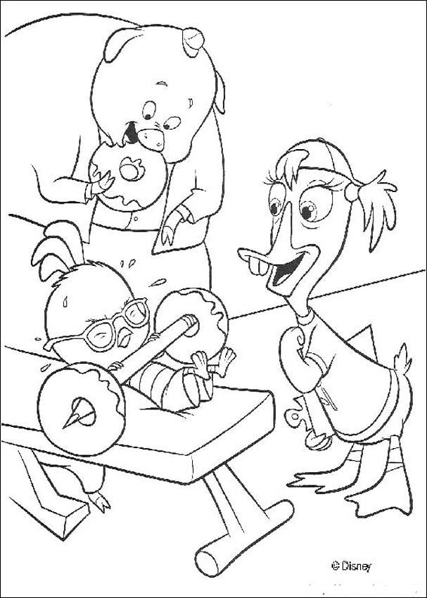 Chicken little coloring page coloring home for Chicken little coloring page
