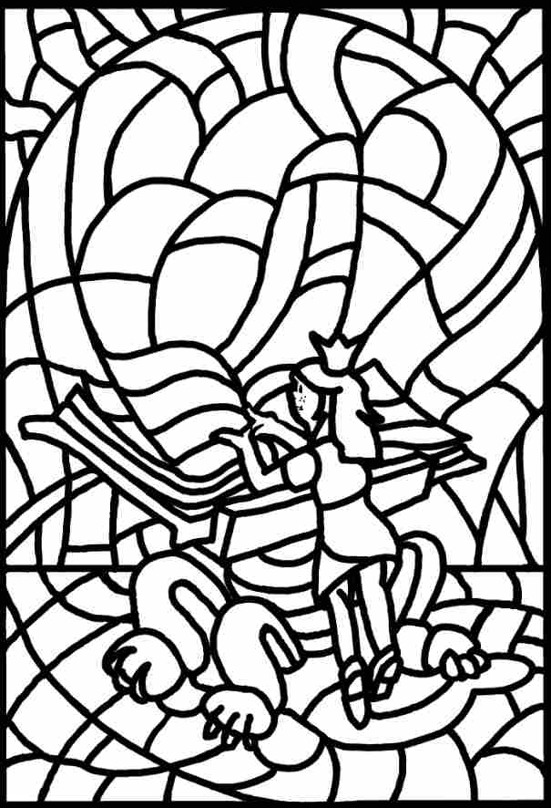 Coloring Pages Stained Glass Coloring Home