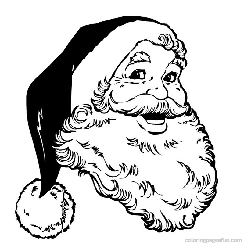 Santa Claus Face Coloring Pages