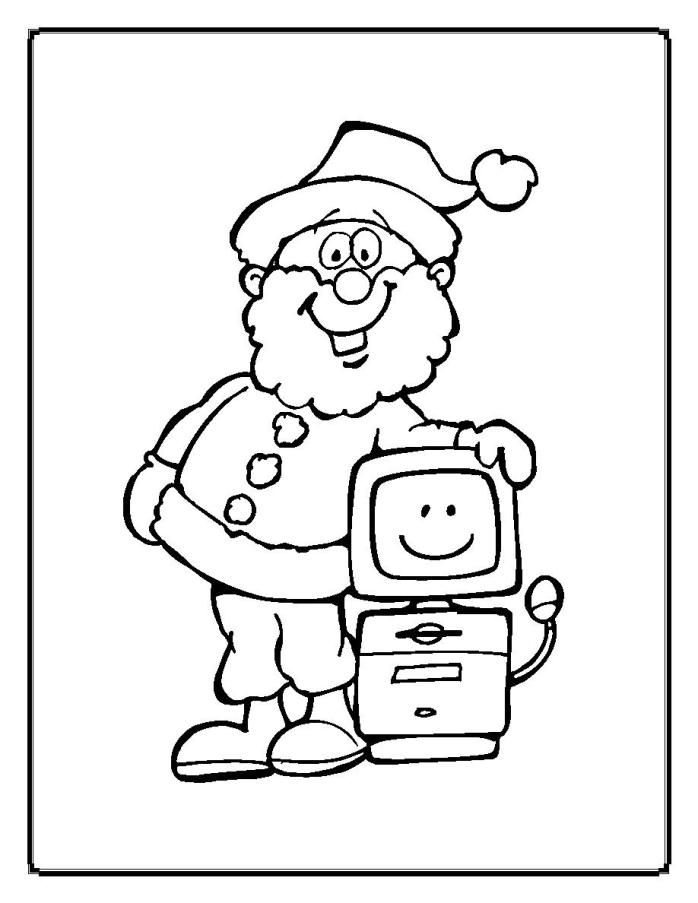 christmas computer coloring pages - photo#1