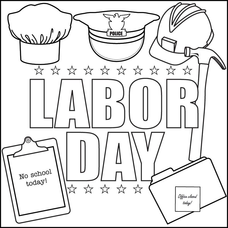 Labor Day Free Coloring Pages 2014, Coloring Sheets for Kids
