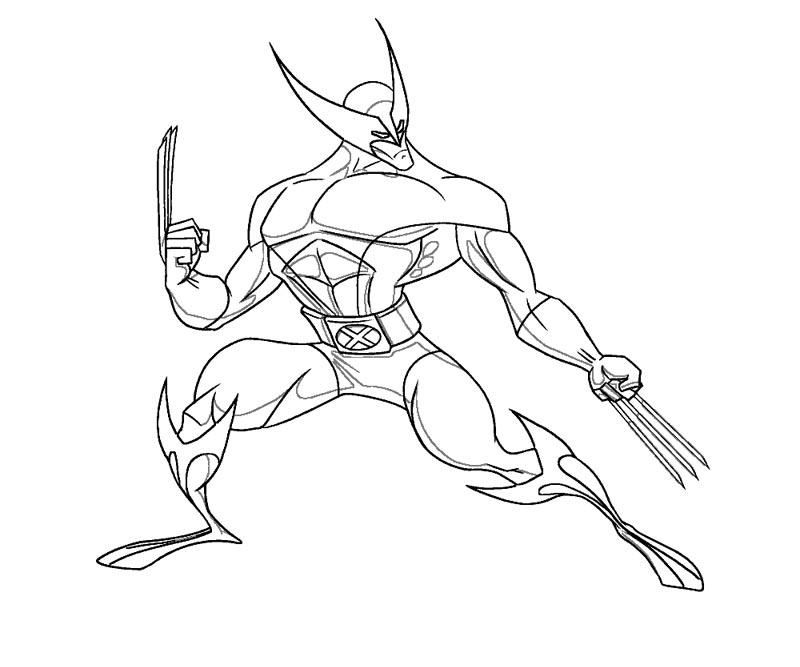 10 wolverine coloring page