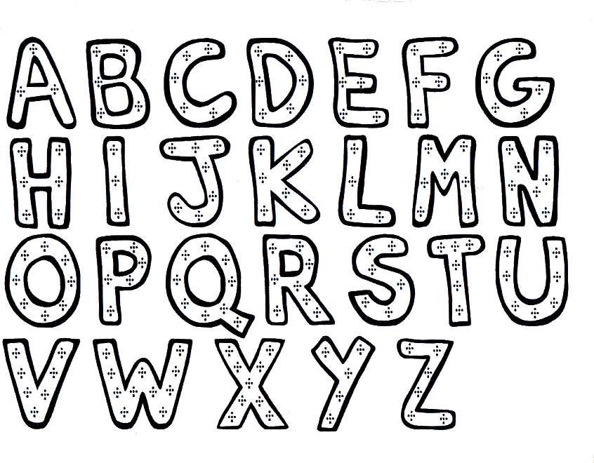 Printable Alphabet Coloring Pages - Coloring Home