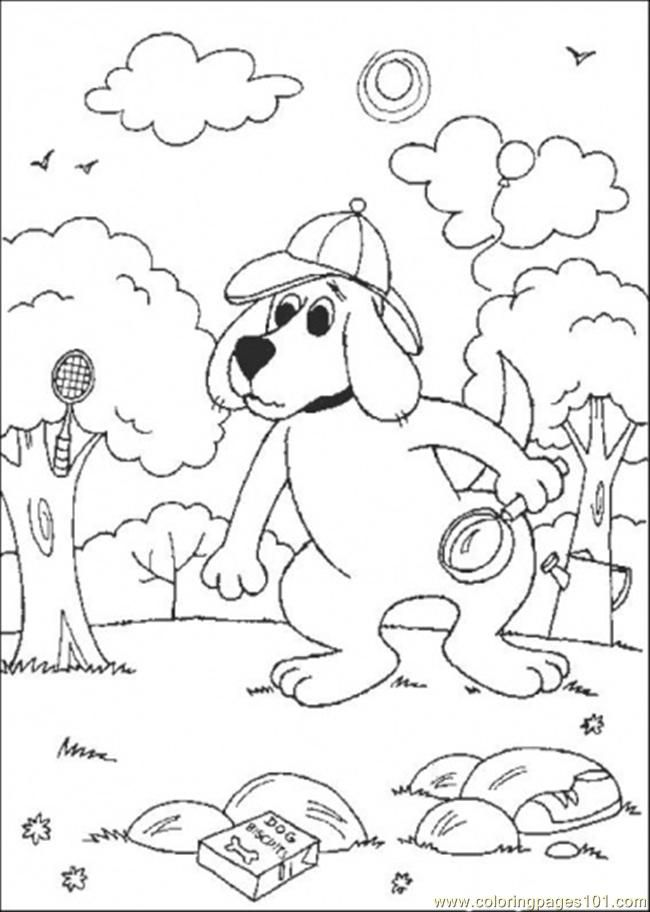 oh clifford puppy days coloring pages - photo #27