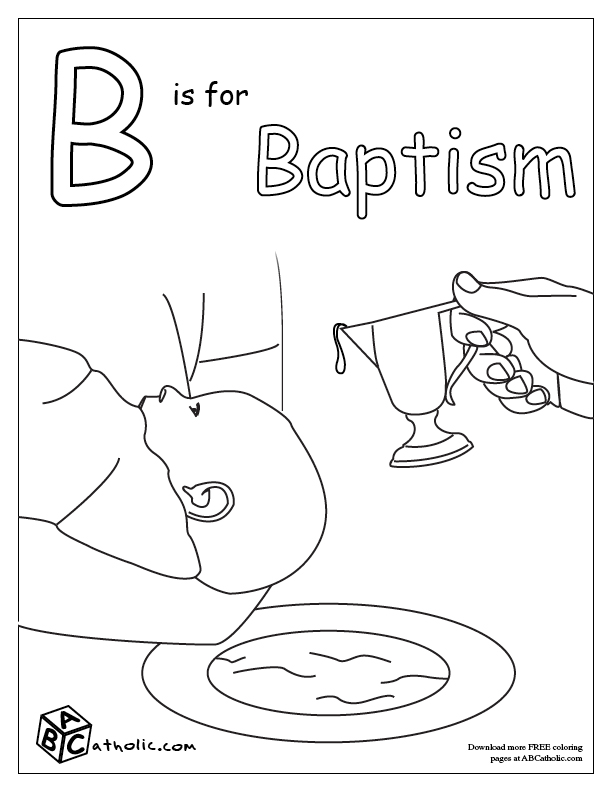 childrens coloring pages baptism-#7