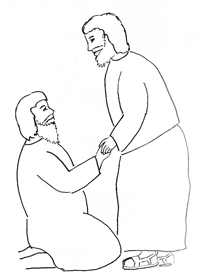 Bible Story Coloring Page Peter Heals a Crippled Man | Free Bible ...