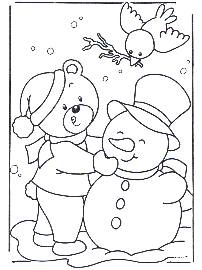 Snow Coloring Pages Free Printable Download | Coloring Pages Hub