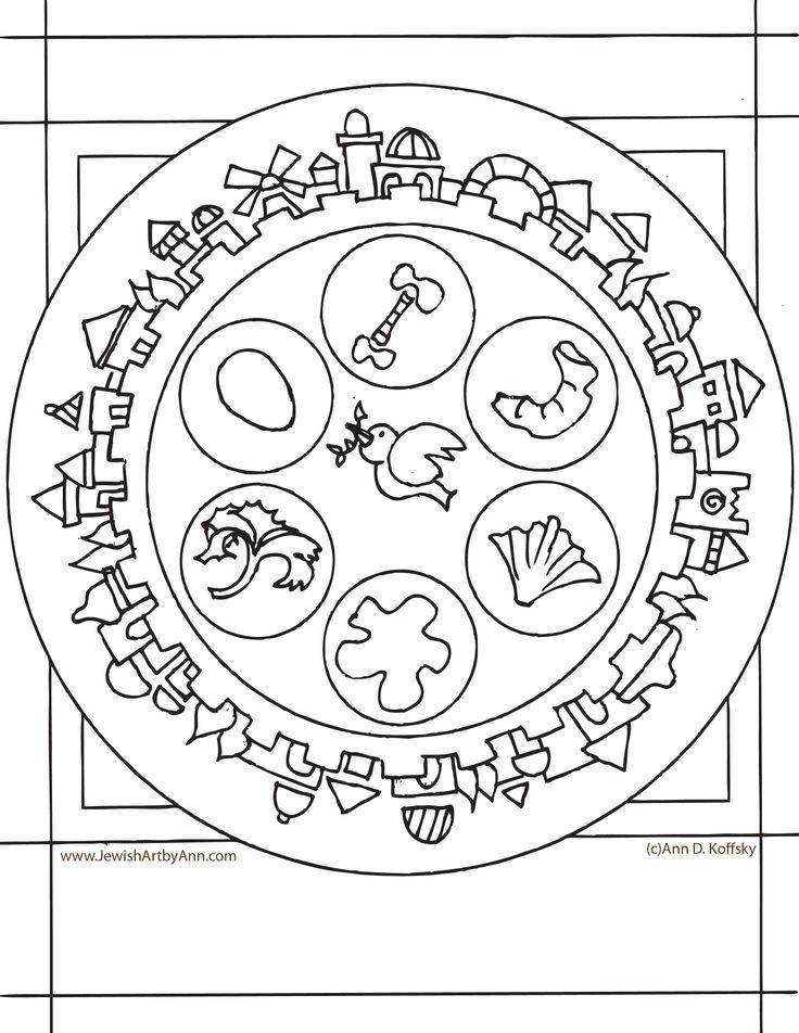 Coloring Page $free | Passover Art for Kids