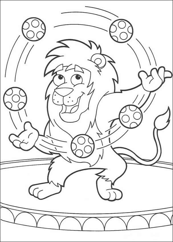 dora the explorer coloring pages lion juggling with balloons