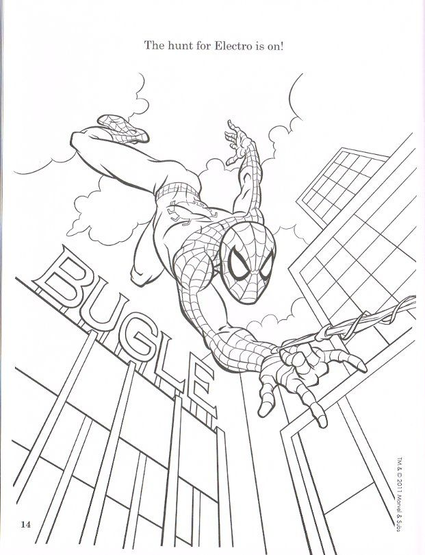 the amazing spiderman Coloring Pages For Kids | Coloring Pages