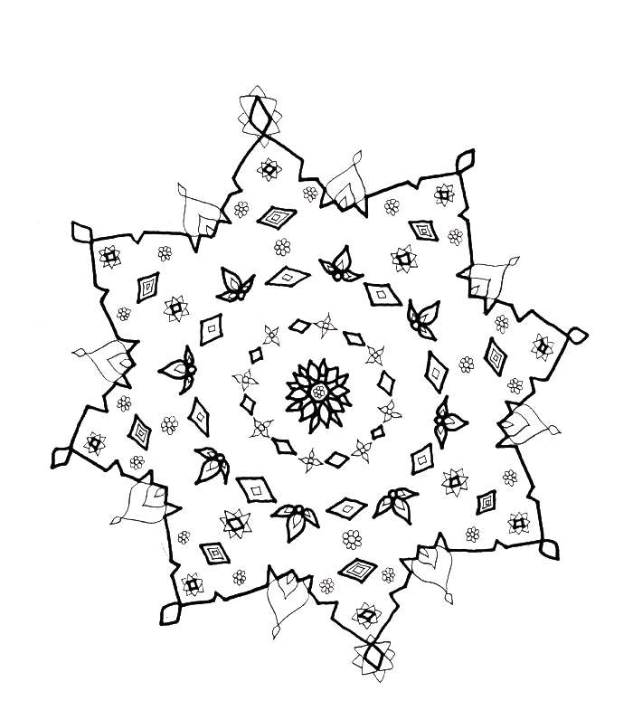 Snow in winter Colouring Pages (page 3)