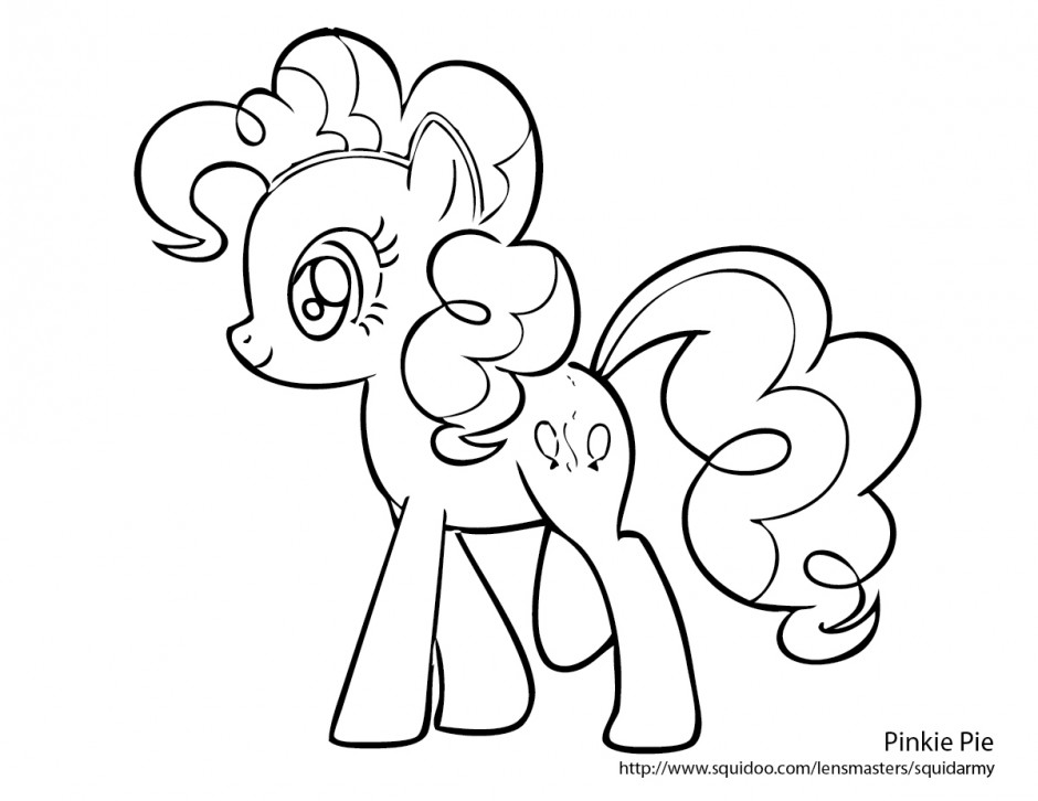 My Little Pony Clipart Coloring Pages : Pinkie pie coloring page az pages