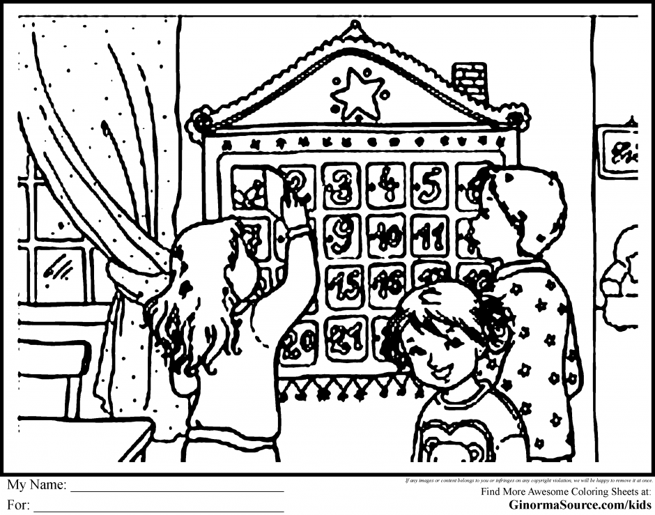 kids coloring pages for advent - photo#23