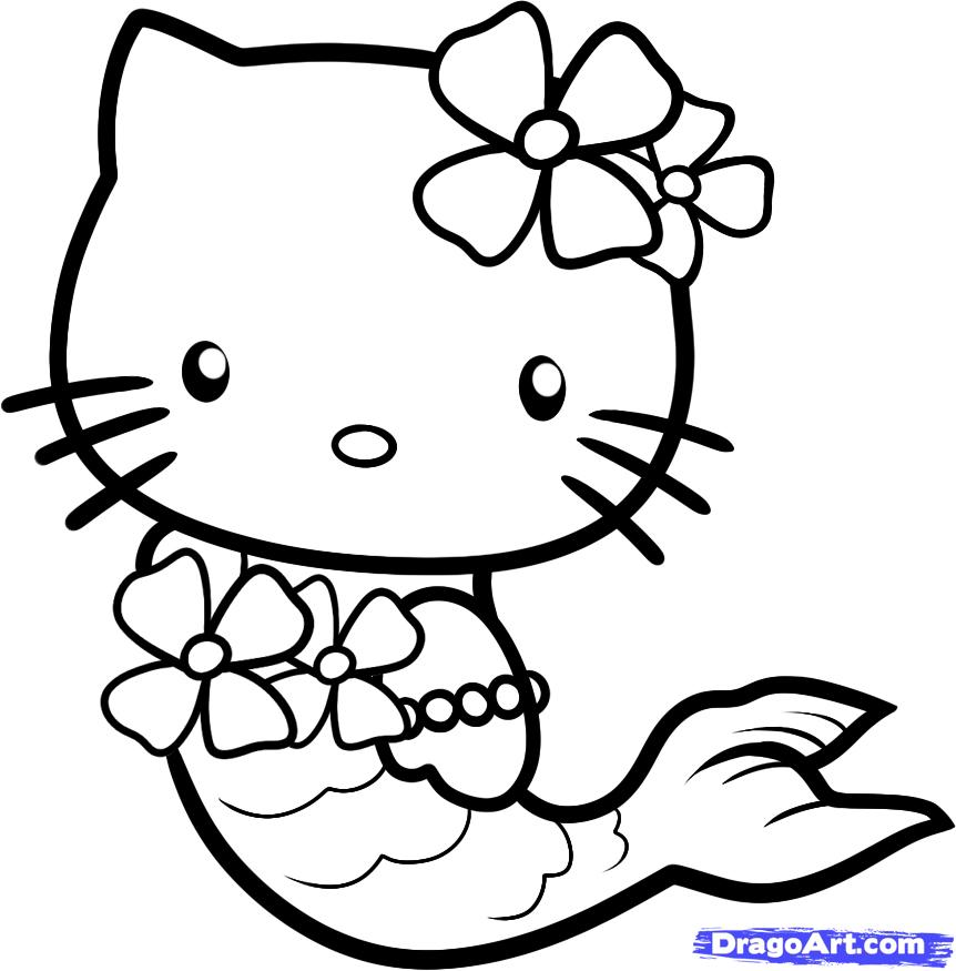 pretty hello kitty coloring pages - photo#2