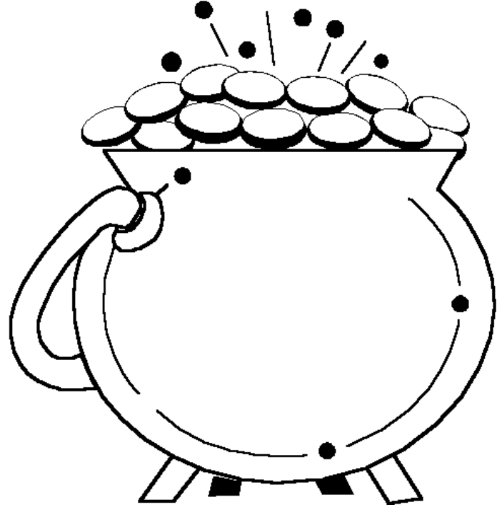 Pot Of Gold coloring pages for free  Rainbow Pot Of Gold coloring    Pot Of Gold Coloring