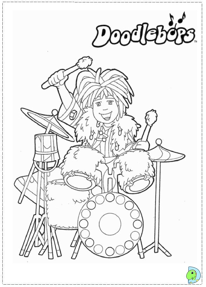 printable doodlebop coloring pages - photo#4