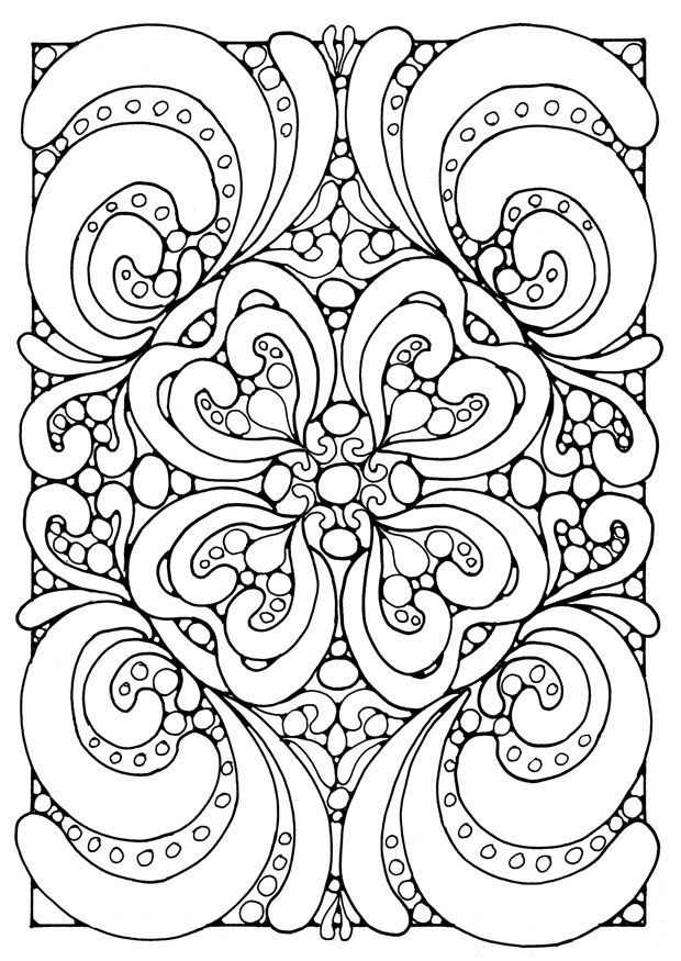 Hard Abstract Coloring Pages For Teenagers Difficult Coloring