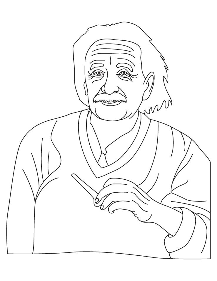 Albert Einstein Coloring Pages