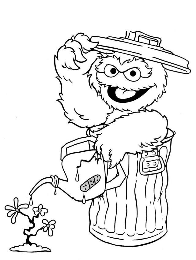 Elmo Alphabet Coloring Pages
