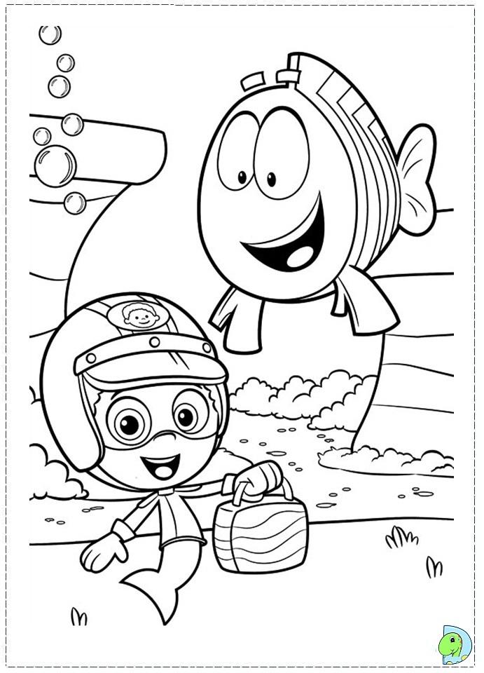 Bubble guppies coloring page az coloring pages for Bubble guppies coloring pages