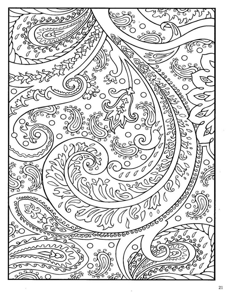 Advanced Pattern Coloring Pages : Free coloring pages of paisley pattern