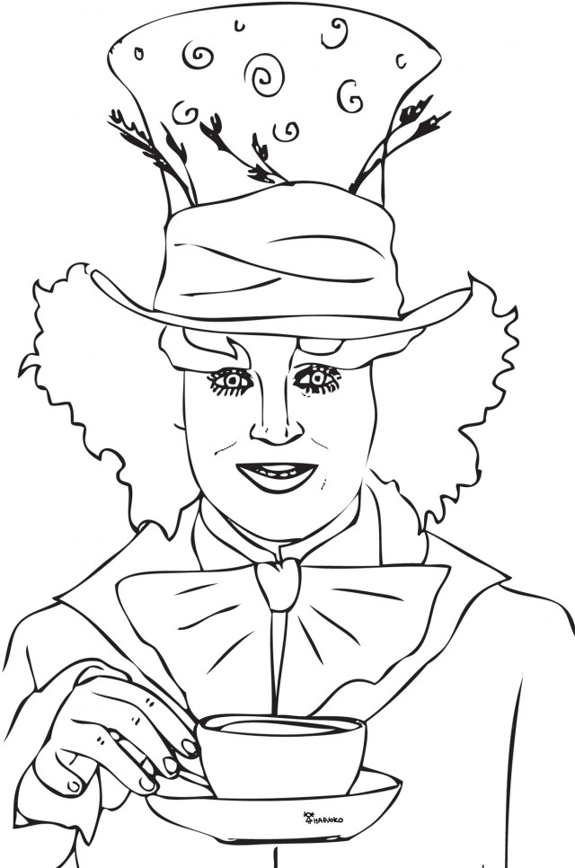 tea party coloring pages free - photo#23