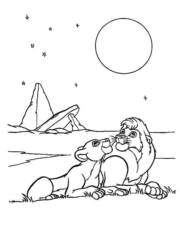 Simba And Nala Coloring Pages - AZ Coloring Pages