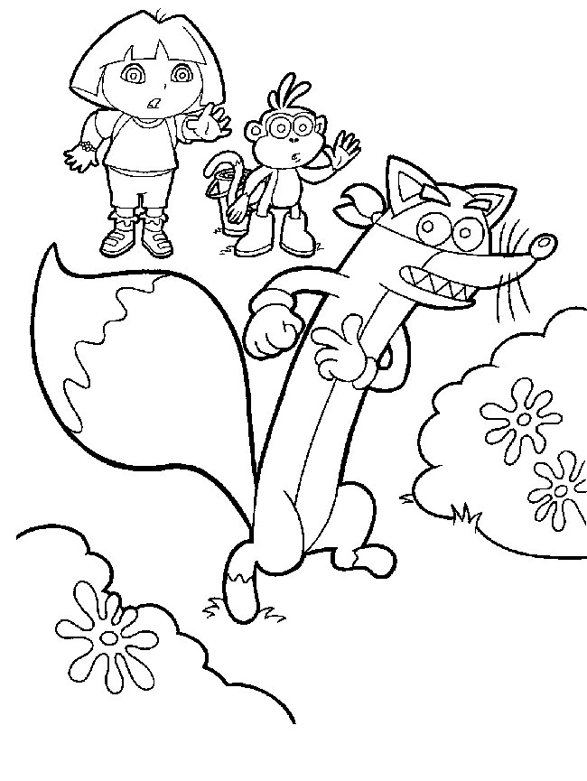 swiper the fox coloring pages - photo#13