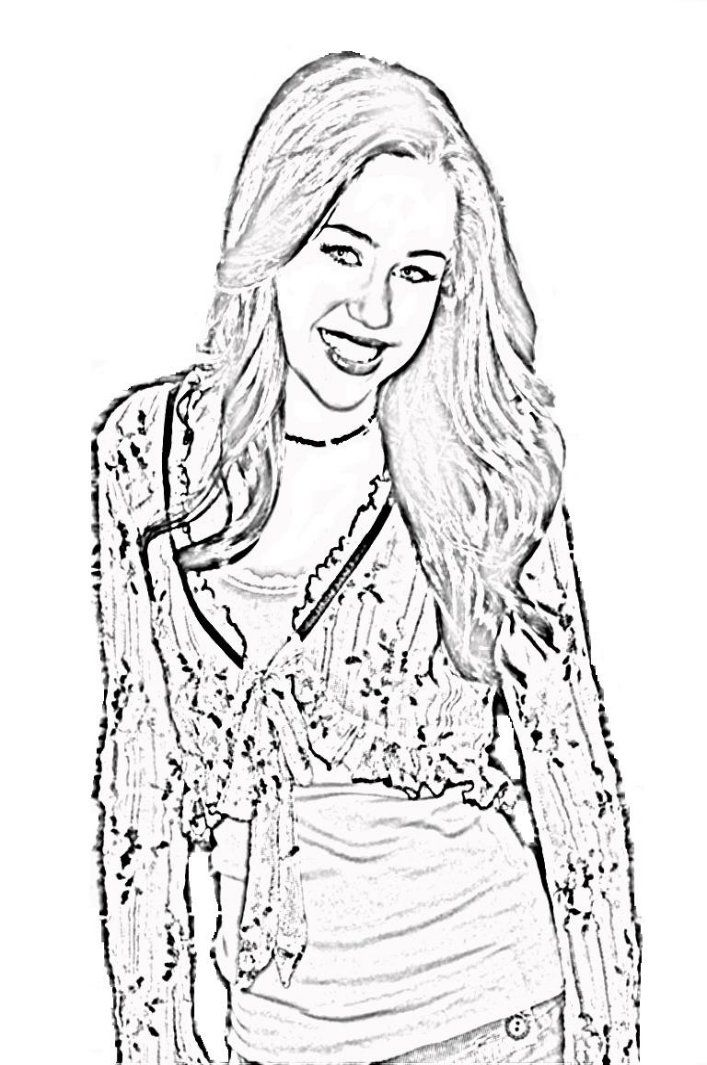 hannah montana online coloring pages - photo#18
