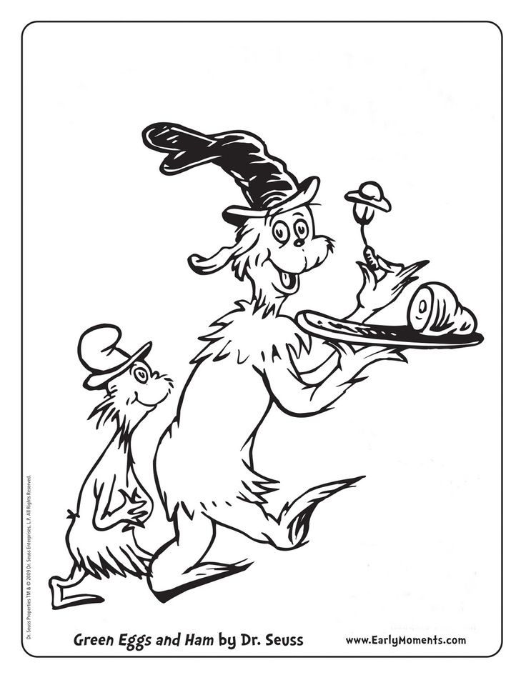 Printable Coloring Pages Of Dr Seuss