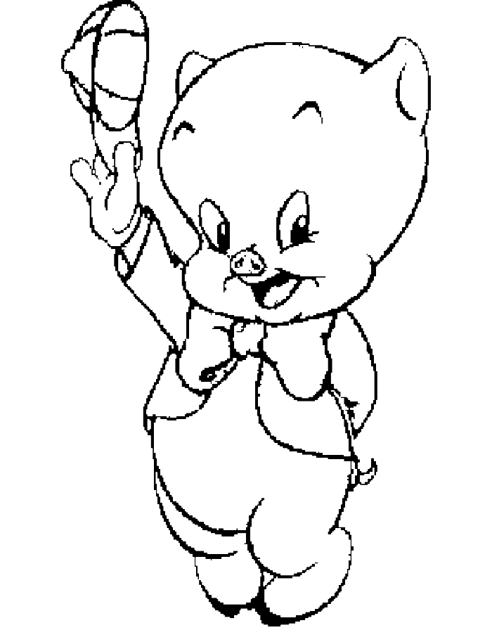 Porky Pig Coloring Pages Coloring Home Porky Pig Coloring Pages