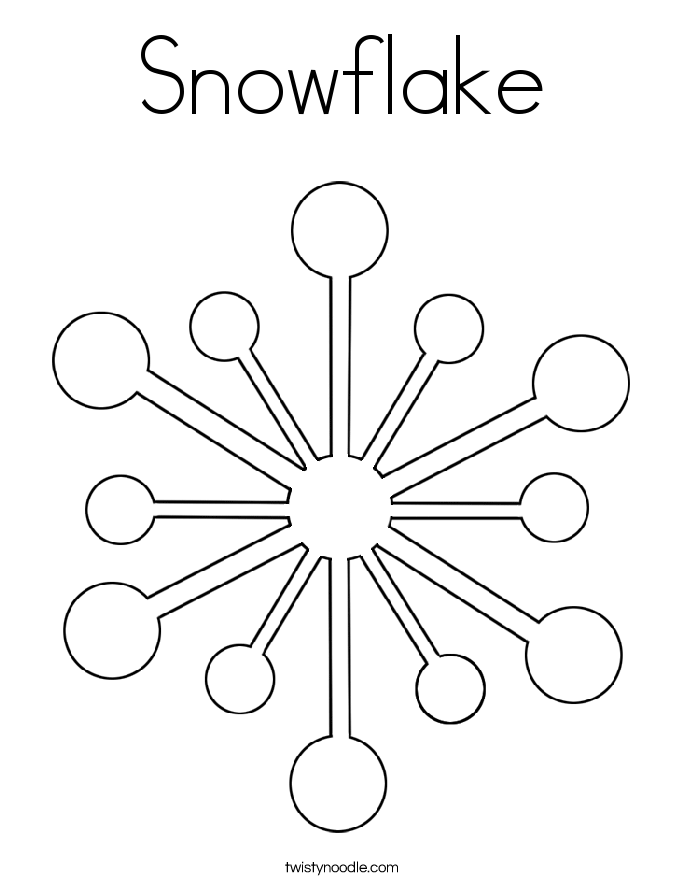 Snowflake Coloring Pages Pdf : Snowflake coloring page download now png format