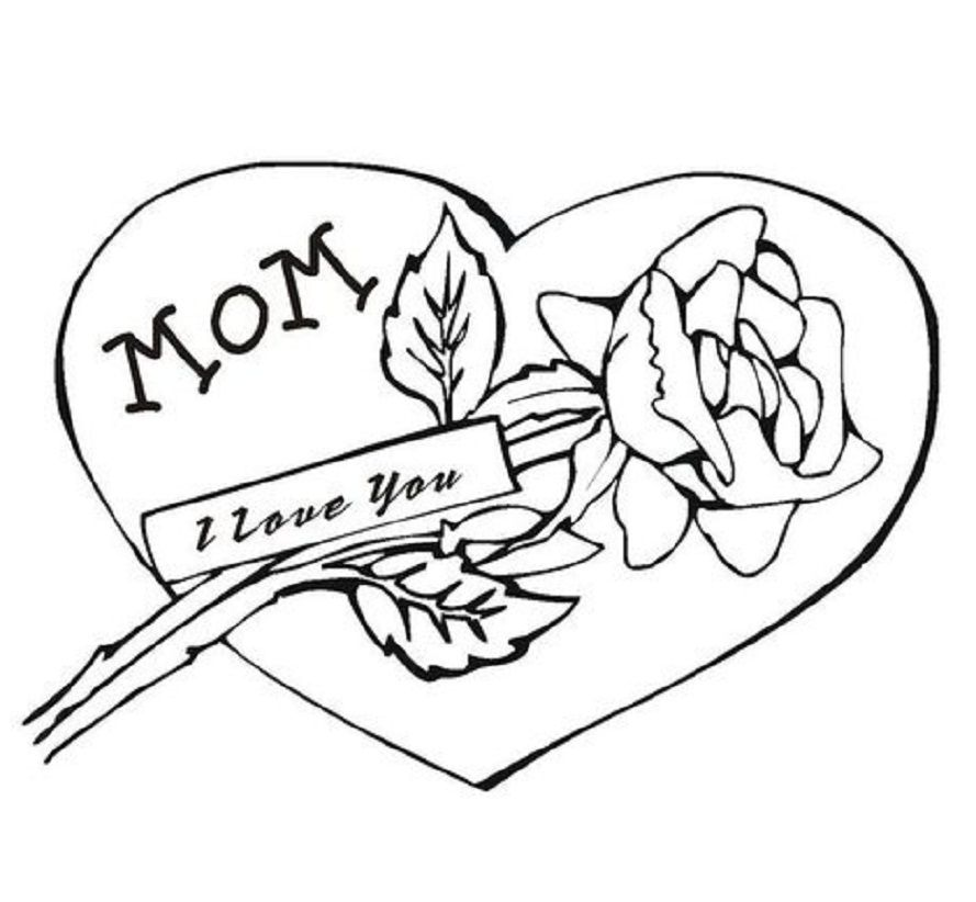 flower and heart coloring pages - photo#35